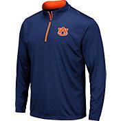 Colosseum Men's Auburn Tigers Blue Embossed Quarter-Zip Performance Shirt