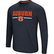 Colosseum Men's Auburn Tigers Blue Touchdown Long Sleeve T-Shirt