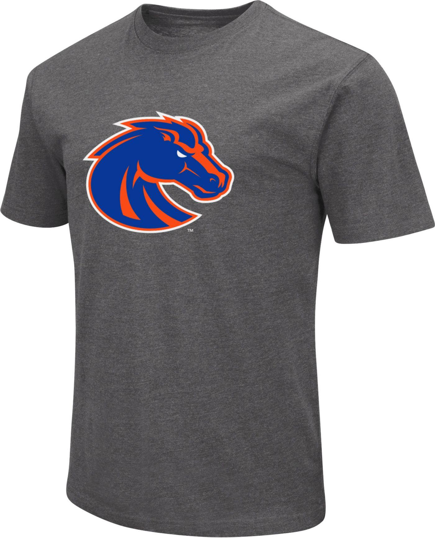 Colosseum Men's Boise State Broncos Grey Dual Blend T-Shirt