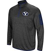 Colosseum Men's BYU Cougars Grey Amnesia Quarter-Zip Shirt