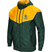 Colosseum Men's Baylor Bears Green/Gold Galivanting Full Zip Jacket