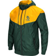Colosseum Men's Baylor Bears Green/Gold Galivanting Full Zip Jacket