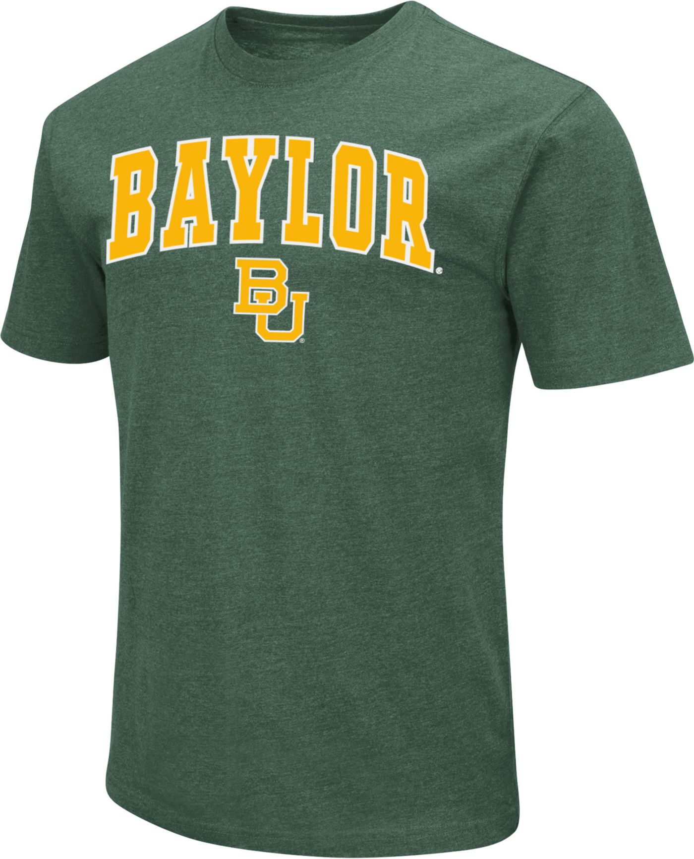 Colosseum Men's Baylor Bears Green Dual Blend T-Shirt