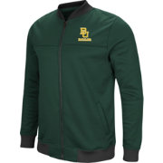 Colosseum Men's Baylor Bears Green Sack The QB Full-Zip Bomber Jacket