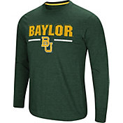 Colosseum Men's Baylor Bears Green Touchdown Long Sleeve T-Shirt