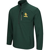 Colosseum Men's Baylor Bears Green Townie Half-Zip Jacket