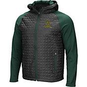 Colosseum Men's Baylor Bears Grey/Green Baseplate Full-Zip Jacket