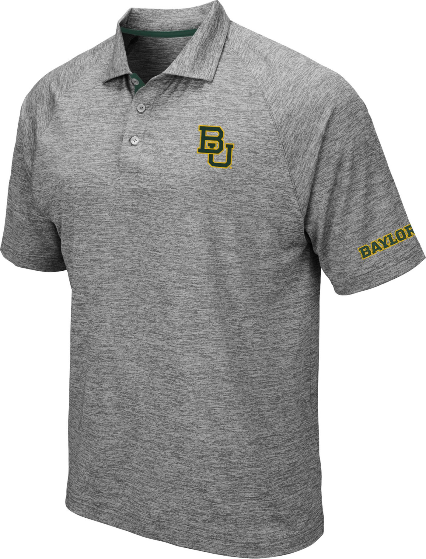 Colosseum Men's Baylor Bears Grey Chip Shot Polo