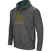 Colosseum Men's Baylor Bears Grey Fleece Pullover Hoodie