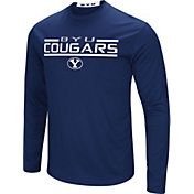 Colosseum Men's BYU Cougars Blue Long Sleeve Performance T-Shirt
