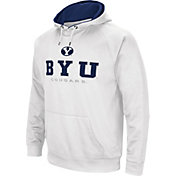Colosseum Men's BYU Cougars Fleece Pullover White Hoodie