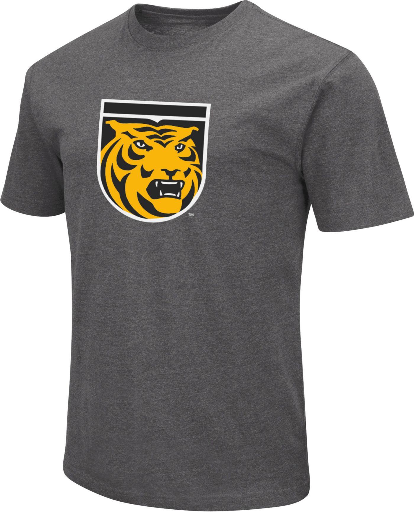 Colosseum Men's Colorado College Tigers Grey Dual Blend T-Shirt