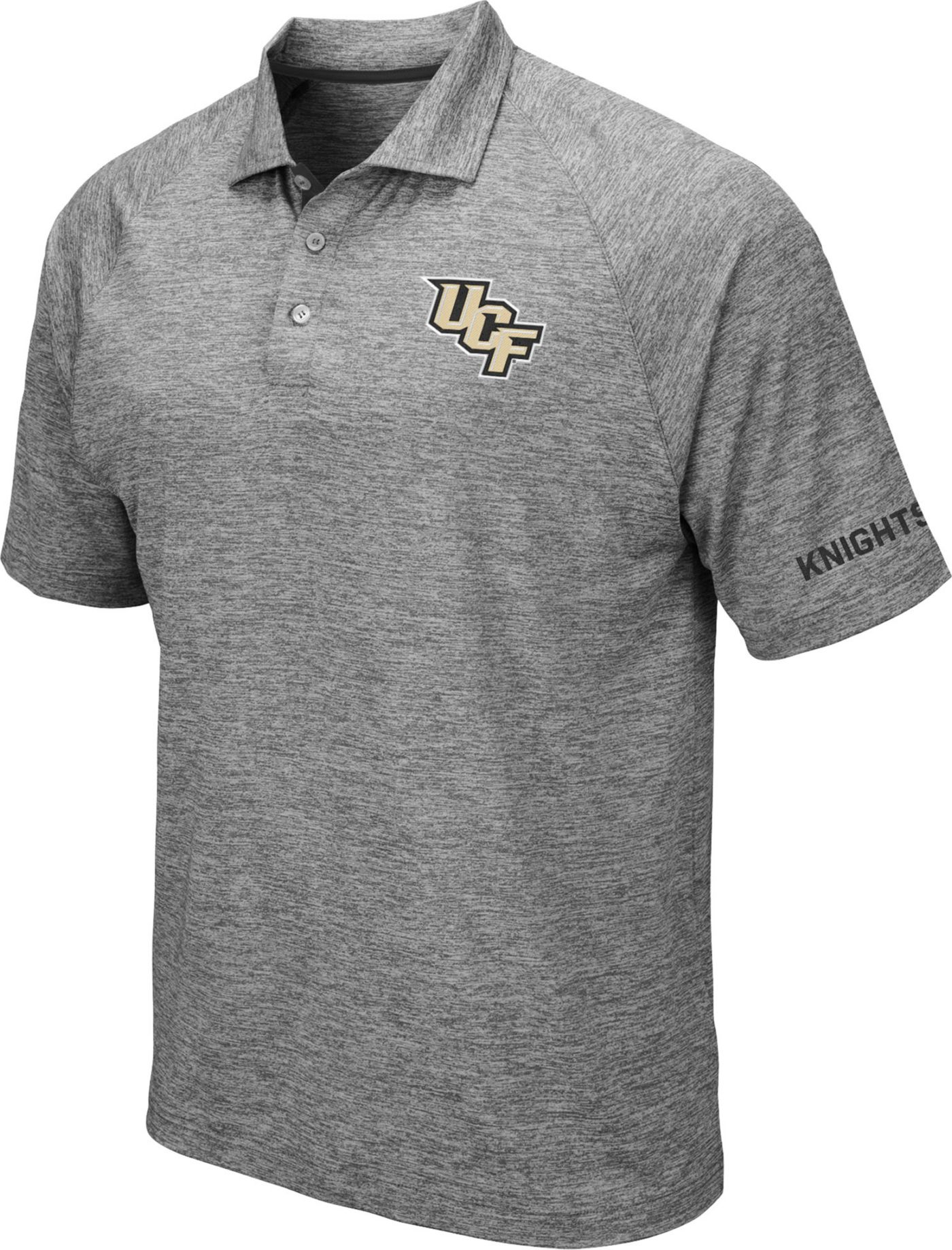 Colosseum Men's UCF Knights Grey Chip Shot Polo