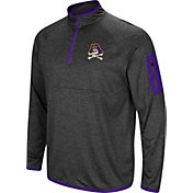 Colosseum Men's East Carolina Pirates Grey Amnesia Quarter-Zip Shirt