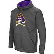 Colosseum Men's East Carolina Pirates Grey Fleece Pullover Hoodie