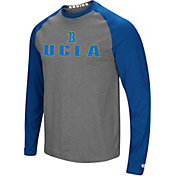 Colosseum Men's UCLA Bruins Grey/True Blue Social Skills Long Sleeve Raglan T-Shirt
