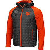 Colosseum Men's Clemson Tigers Grey/Orange Baseplate Full-Zip Jacket