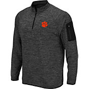 Colosseum Men's Clemson Tigers Grey Quarter-Zip Shirt