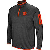 Colosseum Men's Clemson Tigers Grey Amnesia Quarter-Zip Shirt