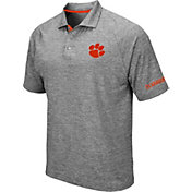 Colosseum Men's Clemson Tigers Grey Chip Shot Polo