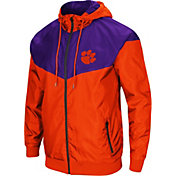 Colosseum Men's Clemson Tigers Orange/Regalia Galivanting Full Zip Jacket