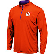 Colosseum Men's Clemson Tigers Orange Embossed Quarter-Zip Performance Shirt