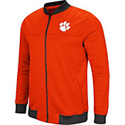 Colosseum Men's Clemson Tigers Orange Sack The QB Full-Zip Bomber Jacket