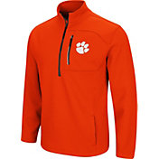 Colosseum Men's Clemson Tigers Orange Townie Half-Zip Jacket