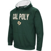 Colosseum Men's Cal Poly Mustangs Green Fleece Pullover Hoodie