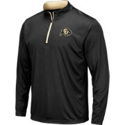 Colosseum Men's Colorado Buffaloes Embossed Quarter-Zip Performance Black Shirt