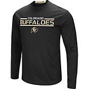 Colosseum Men's Colorado Buffaloes Long Sleeve Performance Black T-Shirt