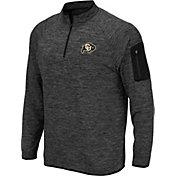 Colosseum Men's Colorado Buffaloes Grey Quarter-Zip Shirt