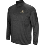 Colosseum Men's Colorado Buffaloes Grey Amnesia Quarter-Zip Shirt