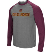 Colosseum Men's Central Michigan Chippewas Grey/Maroon Social Skills Long Sleeve Raglan T-Shirt