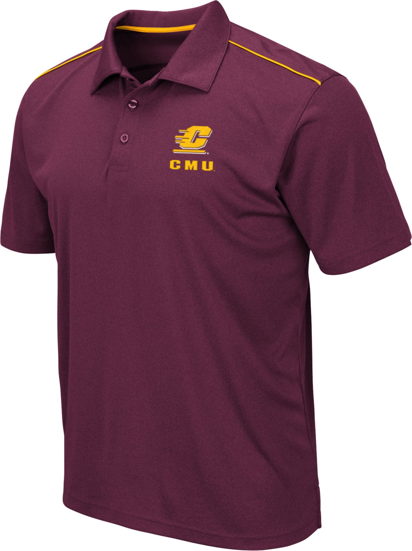 Colosseum Men's Central Michigan Chippewas Maroon Eagle Polo