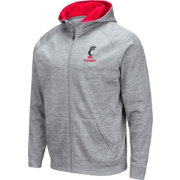 Colosseum Men's Cincinnati Bearcats Grey Full-Zip Hoodie