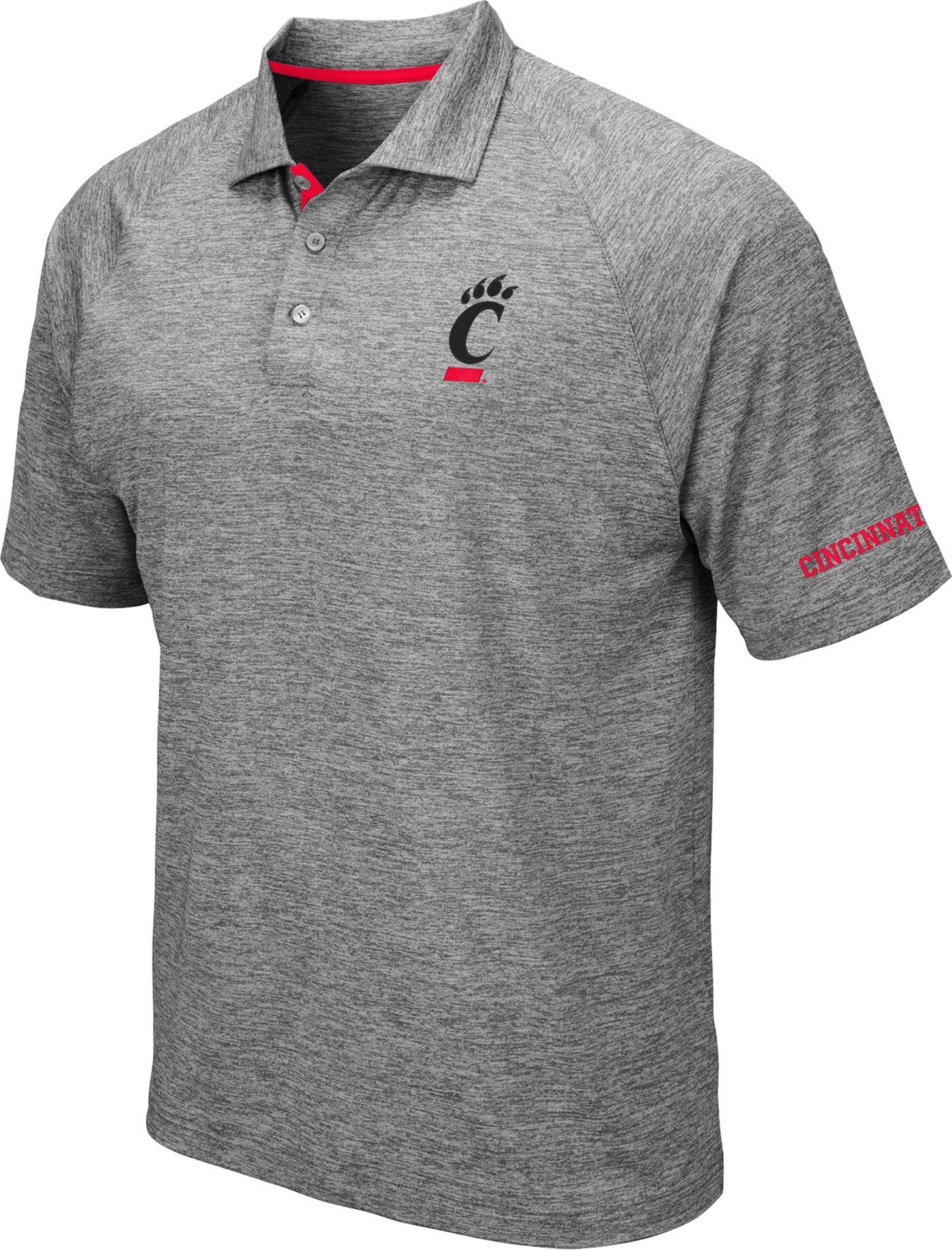 Colosseum Men's Cincinnati Bearcats Grey Chip Shot Polo