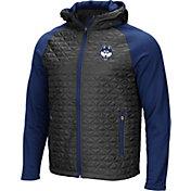 Colosseum Men's UConn Huskies Grey/Blue Baseplate Full-Zip Jacket