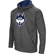 Colosseum Men's UConn Huskies Grey Fleece Pullover Hoodie