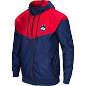 Colosseum Men's UConn Huskies Blue/Red Galivanting Full Zip Jacket