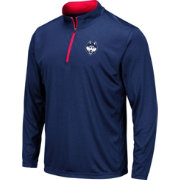 Colosseum Men's UConn Huskies Blue Embossed Quarter-Zip Performance Shirt