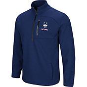 Colosseum Men's UConn Huskies Blue Townie Half-Zip Jacket