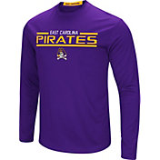 Colosseum Men's East Carolina Pirates Purple Long Sleeve Performance T-Shirt