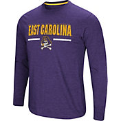 Colosseum Men's East Carolina Pirates Purple Touchdown Long Sleeve T-Shirt