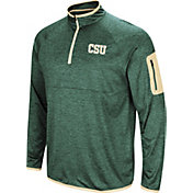 Colosseum Men's Colorado State Rams Green Amnesia Quarter-Zip Shirt