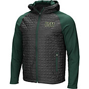 Colosseum Men's Colorado State Rams Grey/Green Baseplate Full-Zip Jacket