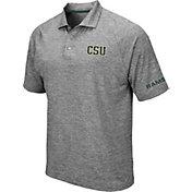 Colosseum Men's Colorado State Rams Grey Chip Shot Polo