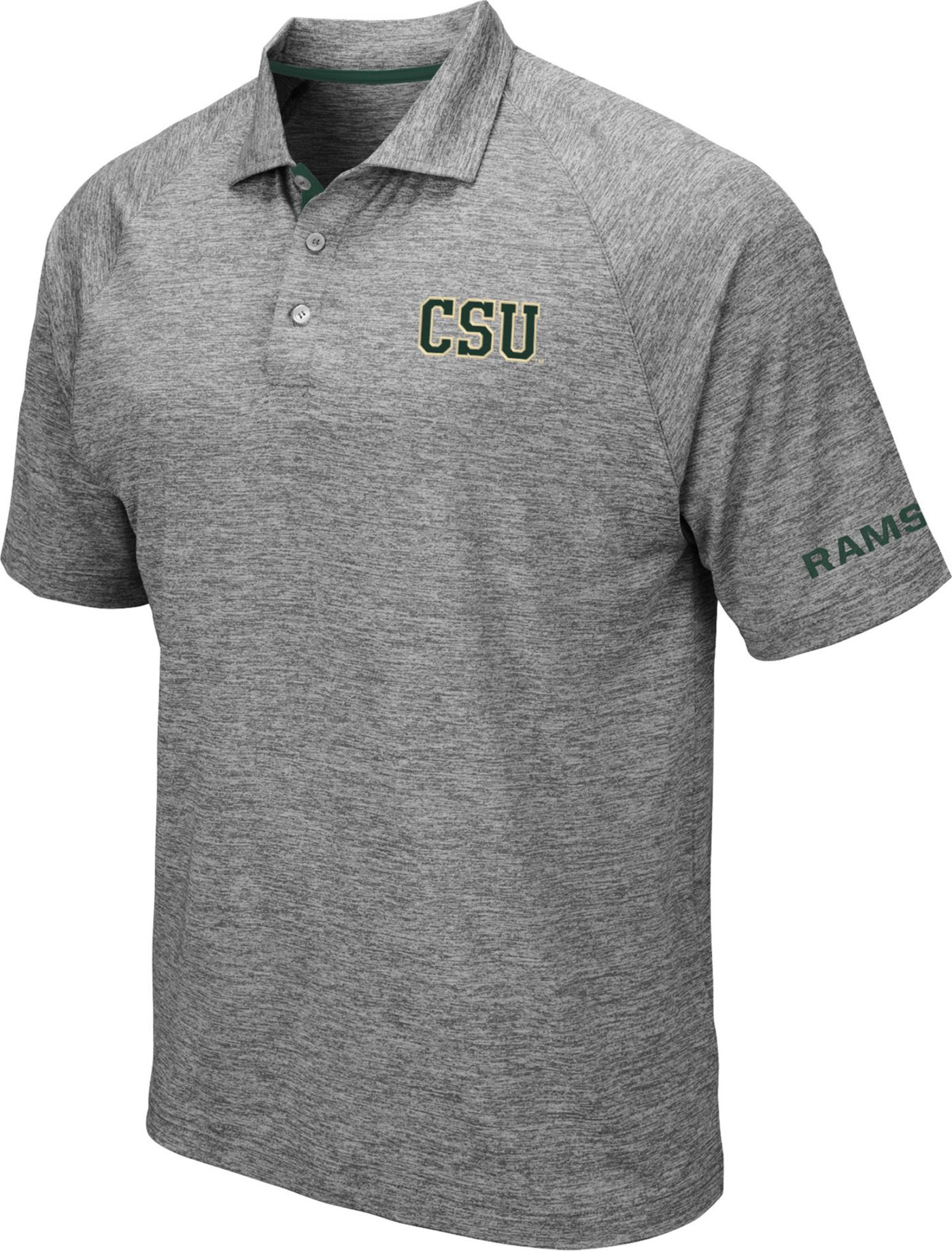 Colosseum Men's Colorado State Rams Grey Chip Shot Polo