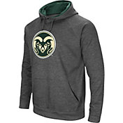 Colosseum Men's Colorado State Rams Grey Fleece Pullover Hoodie
