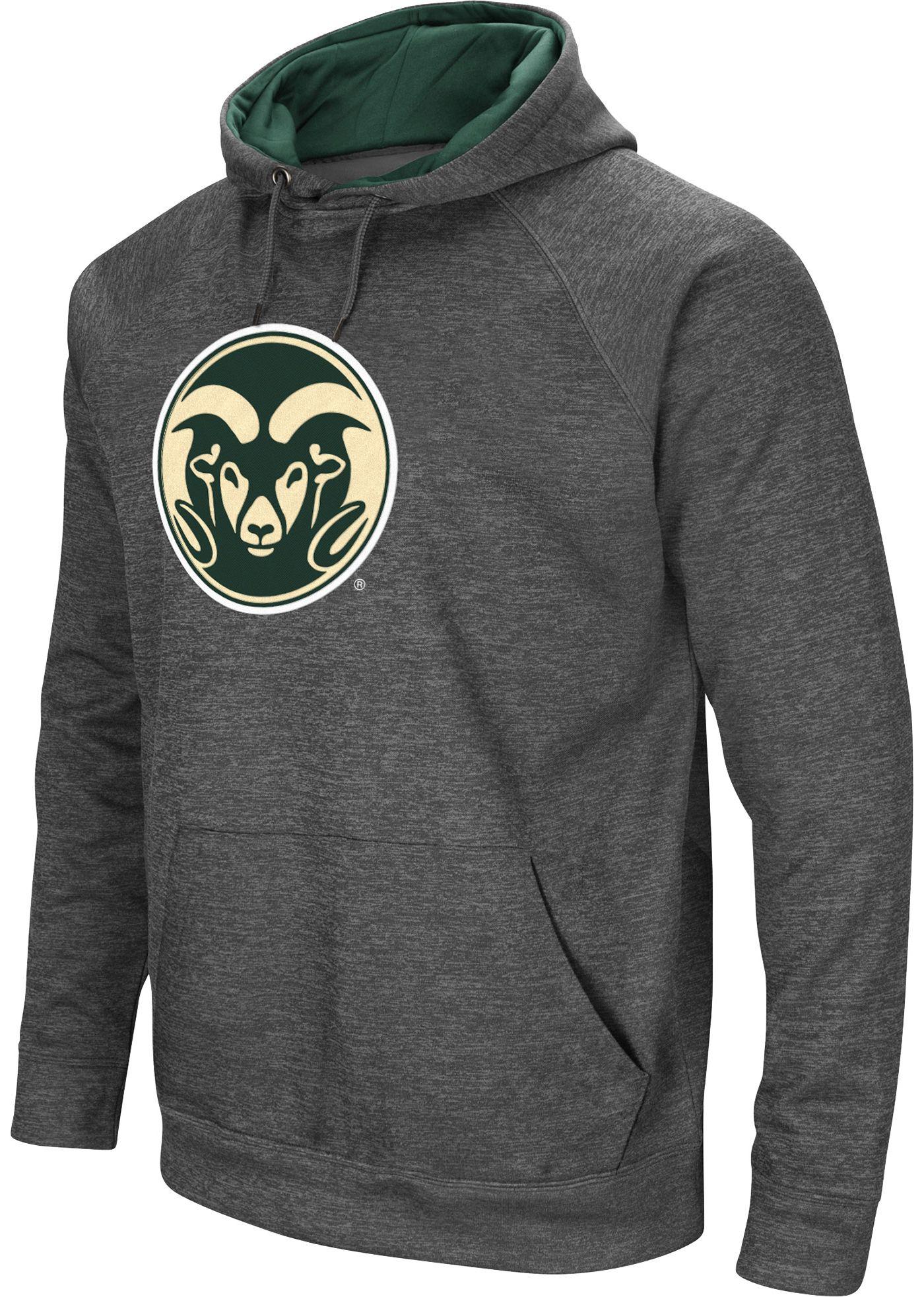 Colosseum Men's Colorado State Rams Grey Fleece Pullover Hoodie